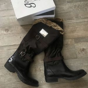 Fur Rubber Wellies Boots